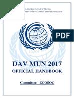 [Davmun2017] Ecosoc Handbook