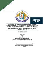 Programa de Habilidades Sociales-estado Del Arte