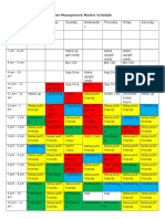 time management master schedule-ous