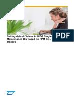 Setting Default Values UI