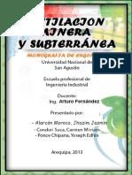 Monografia Ventilacion Minera y Subterranea