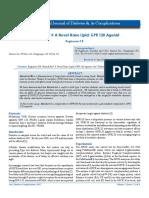Metadichol ® A Novel Nano Lipid; GPR 120 Agonist