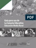 Guía Para Uso de La Canasta Educativa EMR
