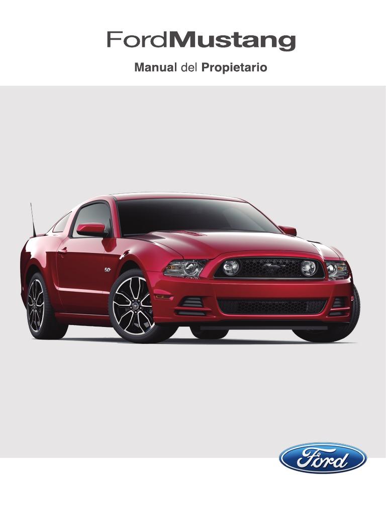manual de propietario de Mustang