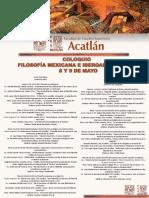 Coloquio de Filosofía Mexicana e Iberoamericana