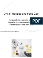 Recipes and Food Cost
