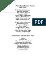 Lagu Persatuan Pandu Puteri