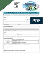 Formulario de Solicitud de Participacion en La Jornada 30-03-17