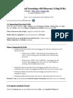 PyRx Tutorial CheatSheet ALPerryman72010