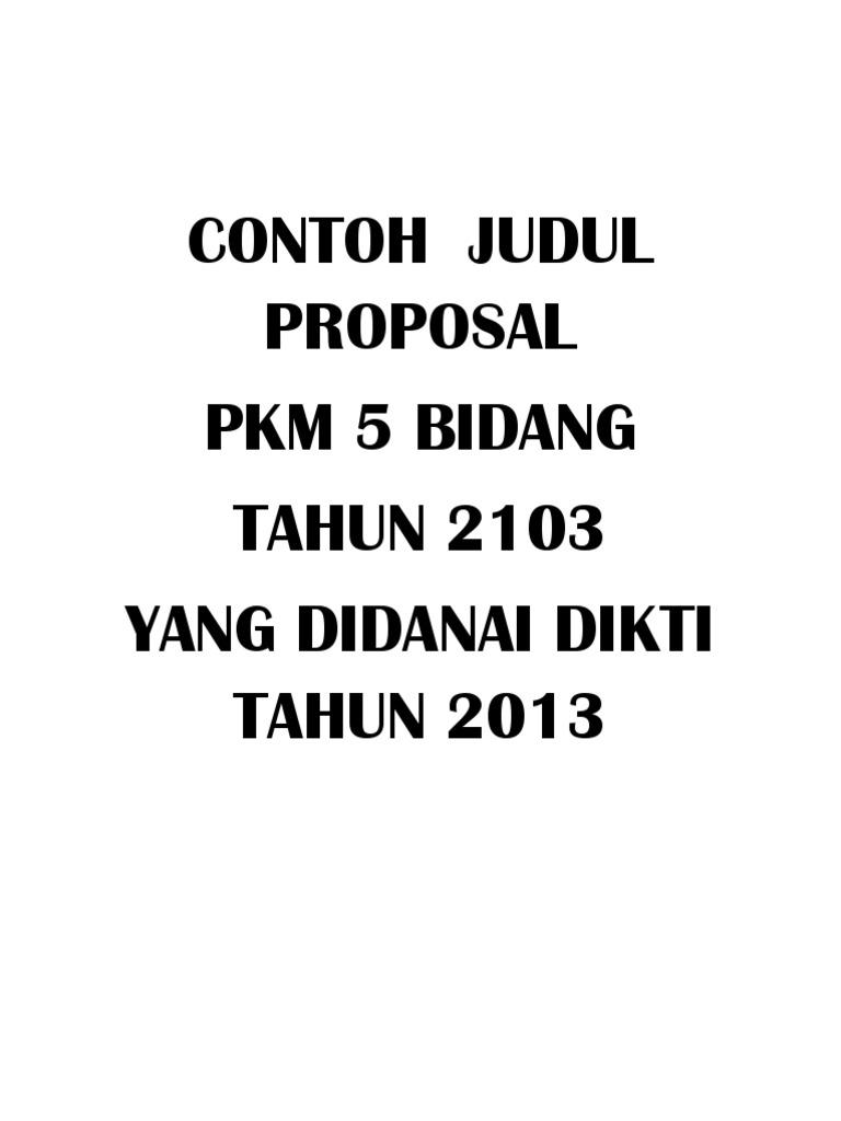 Contoh Judul Pkmpdf