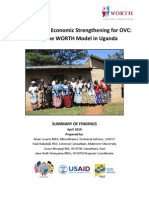 Salvation Army - Evaluation of Economic Strengthening for OVC in Uganda (April 2010 UPDATED VERSION)
