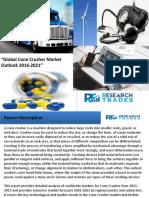 Global Cone Crusher Market Outlook 2016-2021