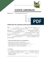 Modelo de Escritos Laborales Practica Forence Civil II Laboral