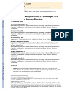 Increased Rate of Amygdala Growth in Children Aged 2 to 4 Years With Autism Spectrum Disorders