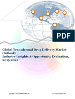 Global Transdermal Drug Delivery Market (2015-2021)- Research Nester