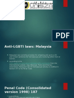 LGBT Acts in Malaysia