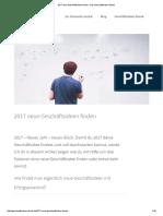 2017 Neue Geschäftsideen Finden