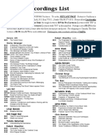 Full Lecture List