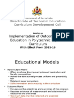 Outcome Based Education Curriculum in Polytechnic Diploma Programmes PPT