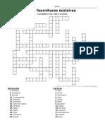 Annexe 01 - Mots Croisés - Fournitures Scolaires