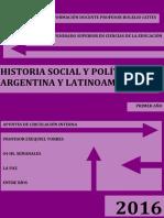 Cuadernillo Historia Social y Política de Latinoamérica y Argentina