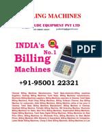 Handheld Billing Machine for Best Price Offer in Jude Equipment Pvt Ltd.