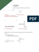 CHEM 2411 HW CH 3 EXTRA Problem Set Solutions