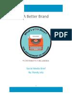 Social Media Brief 2