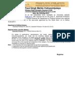 Notification BPSMV Associate Asst Professor Posts