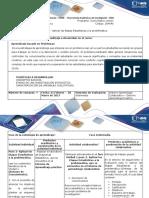 Guía de Actividades y Rúbrica de Evaluación- Paso 2 -Aplicar Las Etapas Estadísticas a La Problemática.