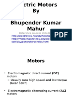 Electric Motor presentation
