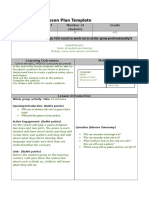 lesson plan template  pattern