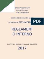 Reglamento Inteerno Ceba 72030 Azangaro