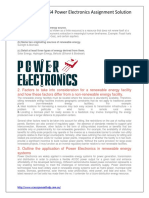 ECE464 Power Electronics Assignment Solution