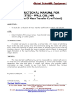 Manual for Wetted Wall Column