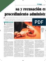 Excusa y Recusación en El Procedimiento Administrativo - La Gaceta Jurídica 26-04-17 - Autor José María Pacori Cari