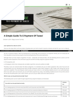 E-payment of tax