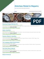Clocks Watches Retail Repairs BizHouse.uk