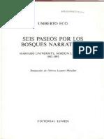Eco Umberto - Seis Paseos Por Los Bosques Narrativos