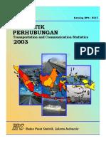 Bps Statistik Perhubungan 2003