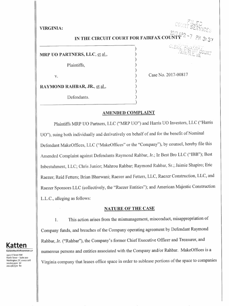 2017-04-07 Amended Complaint 2017-00817[2] | Limited