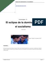 El eclipse de la dominacion o el socialismo.