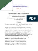 6- Ley No. 444 Reforma a La Ley de Regimen Presupuestario Municipal
