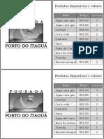 Frigobar Tabela Com Logo