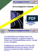Tecnicas de Investigacion Criminal I Modulo 1 UBA 2017