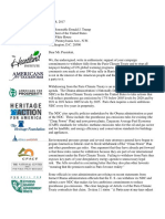 Letter to President Trump on Paris Climate Treaty From CEI, AEA, And 39 Organizations, 8 May 2017