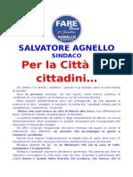 La presentazione ufficiale del candidato Salvatore Agnello