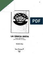 Documentos Libros-Ray Sondra-la Unica Dieta