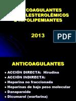 ANTICOAGULANTES 2013