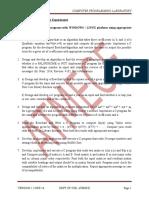 Pcd Lab Manual Vtu
